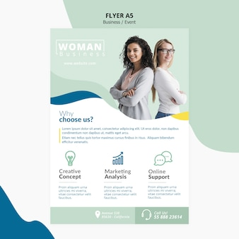Template design für corporate flyer