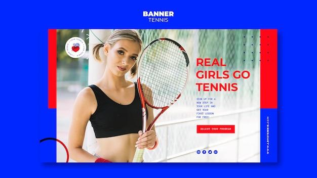 Tennis konzept banner vorlage
