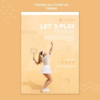 Tennis übungsflyer vorlage