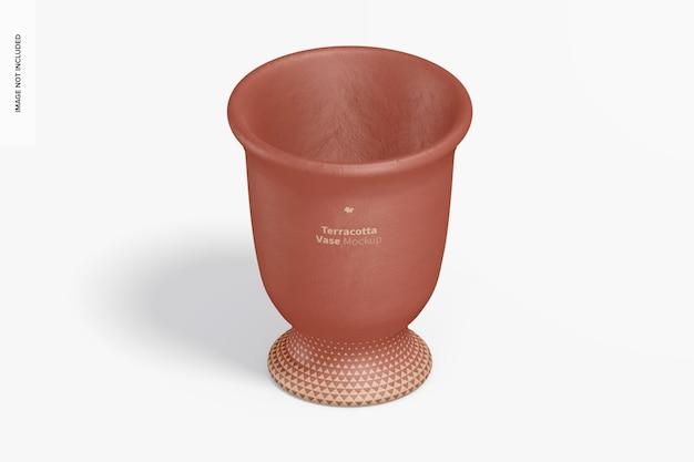 Terrakotta-vasenmodell, isometrische ansicht