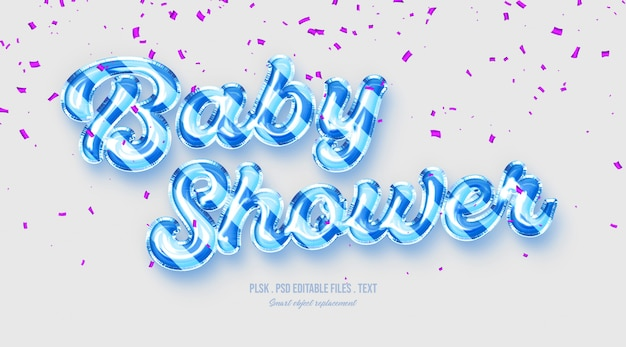 Text-arteffekt der babyparty 3d