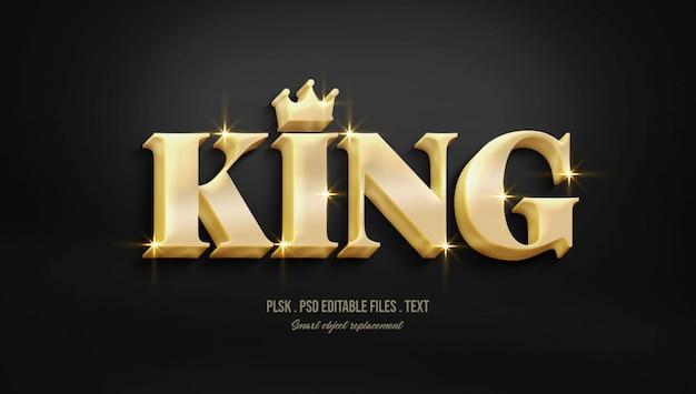 Text-arteffekt des königs 3d