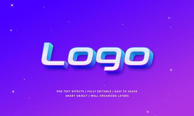 Text-arteffekt des logos 3d