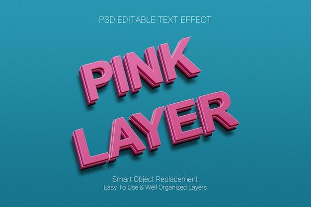 Text-effekt der rosa ebene