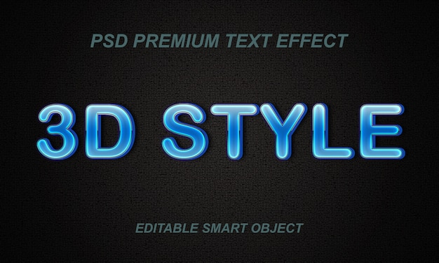 Text-effekt-design im 3d-stil