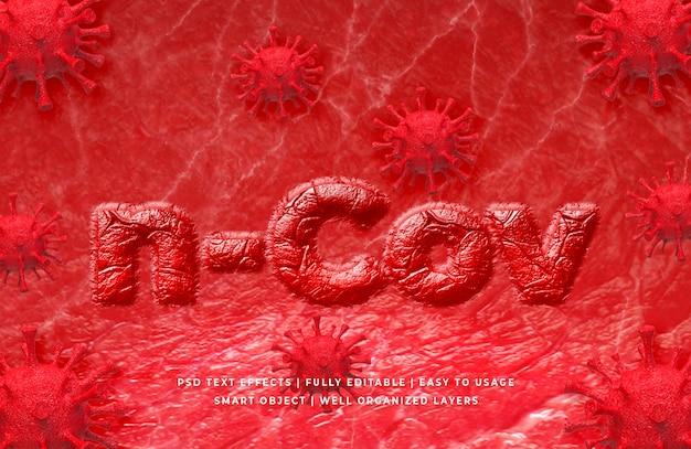 Textart des koronavirus 3d