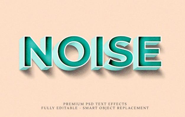 Textart-effekt psd der geräusche 3d
