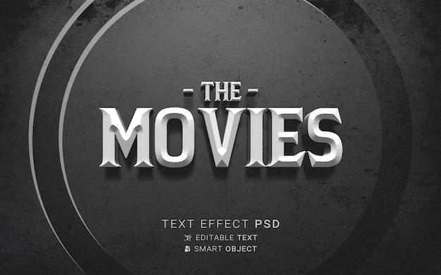 Texteffekt das ende des alten filmdesigns