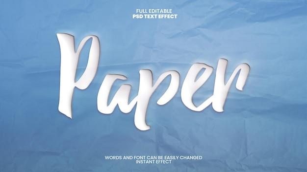 Texteffekt für ausgeschnittenes papier