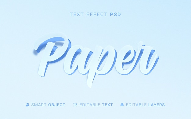 Texteffekt im papierstil