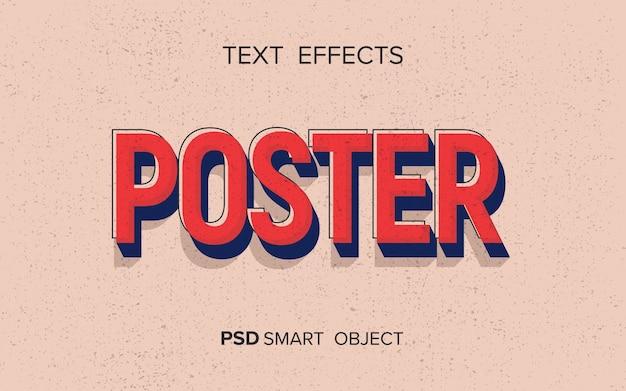 Texteffekt im retro-stil