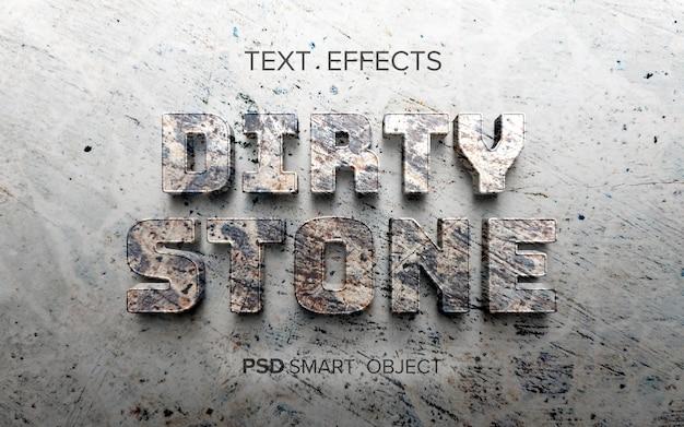 Texteffekt mit steinstruktur
