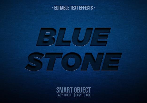 Textstil aus blauem stein