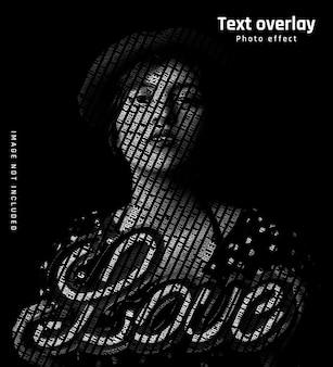 Textüberlagerungseffekt auf gesicht ausschneiden