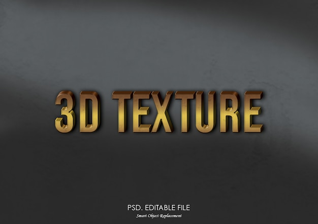 Texturmodell-texteffekt des logos 3d