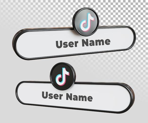Textvorlage für das etikett des tiktok-benutzernamens