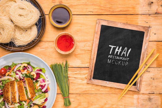 Thailändisches lebensmittelkonzeptmodell