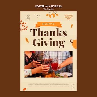 Thanksgiving day druckvorlage mit herbstdetails
