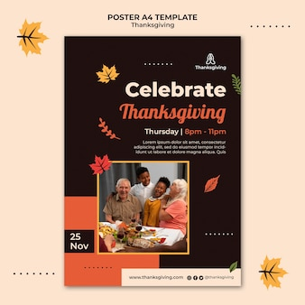 Thanksgiving-design-vorlage des posters