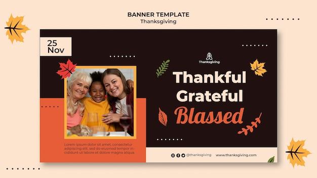 Thanksgiving-design-vorlage von banner