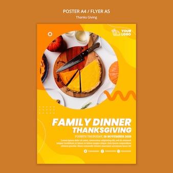 Thanksgiving-konzept poster vorlage