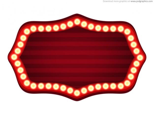 Theater schild vorlage (psd)
