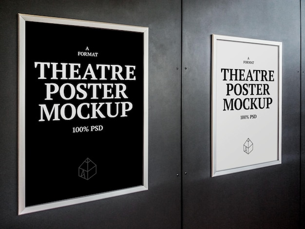 Theaterplakat mock-ups