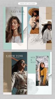 Thema der social media-geschichte in mode