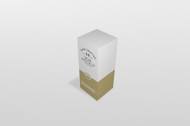 Thin box verpackung mockup