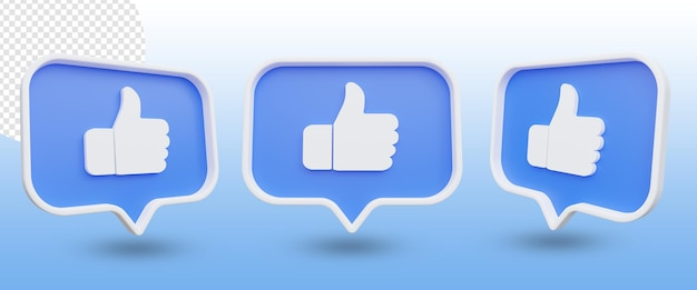 Thumb-up-benachrichtigung wie schaltflächensatz