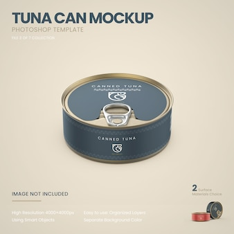 Thunfisch kann mockup