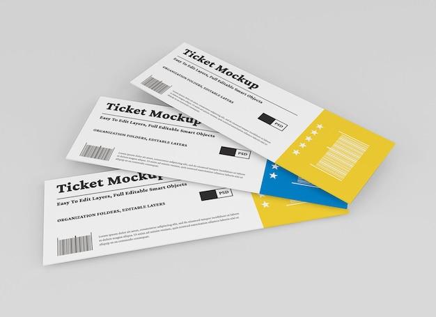 Ticket-mockup-design isoliert