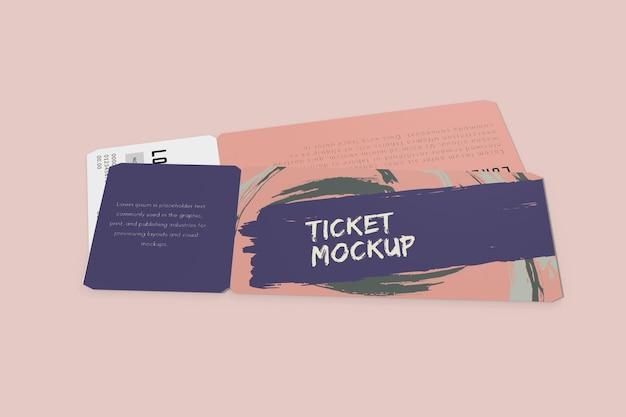 Ticket-mockup-design