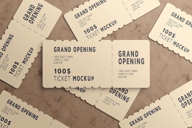 Ticketmodell für geschenkgutscheine