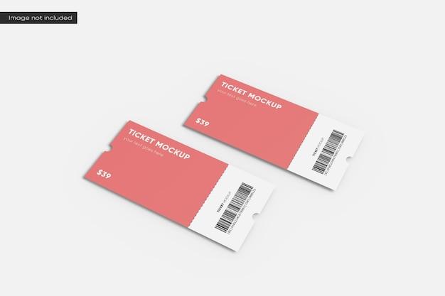 Ticketmodell mit zwei perspektiven