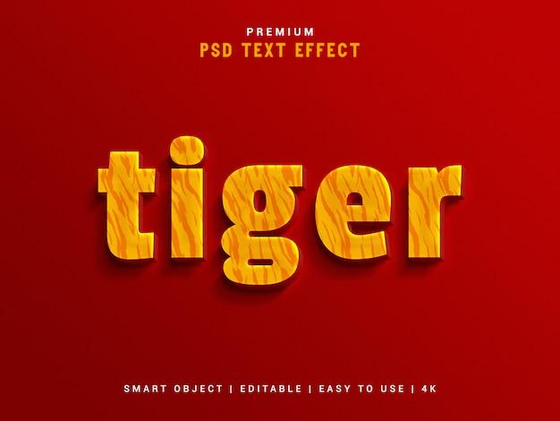 Tiger text effect maker