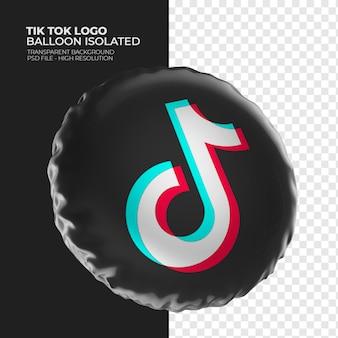 Tik tok logo 3d ballon