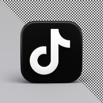 Tiktok 3d icon design isoliert