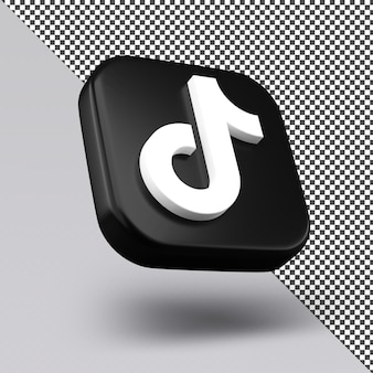 Tiktok 3d icon design isoliert