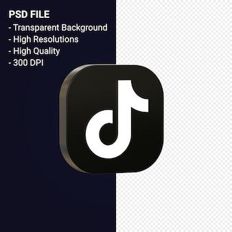 Tiktok logo 3d symbol rendering isoliert