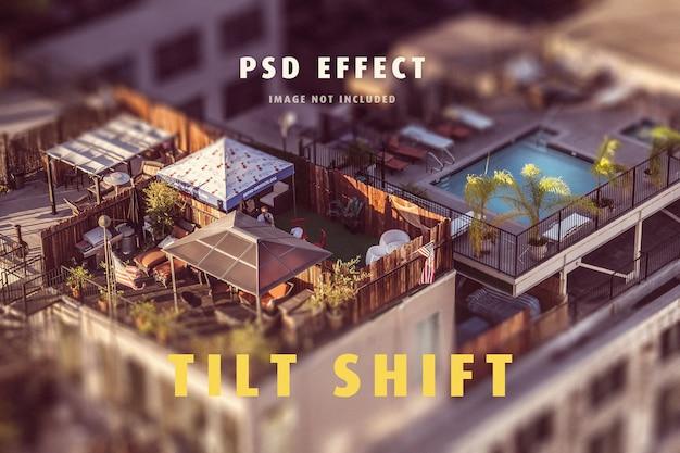 Tilt shift lens-effekt