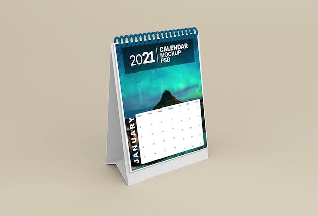 Tischkalender modell isoliert