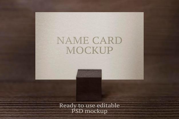 Tischkartenmodell psd für restaurantreservierung