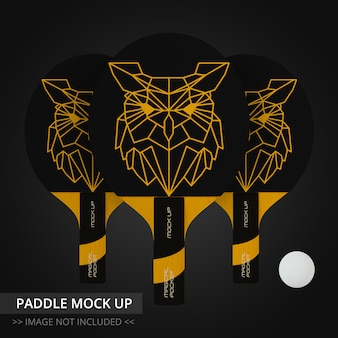 Tischtennisschläger mock up - drei paddel
