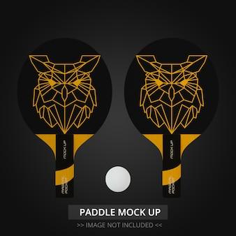 Tischtennisschläger mock up - zwei paddel