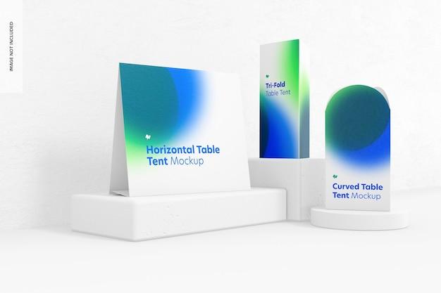 Tischzeltkarten-szenenmodell, vorderansicht