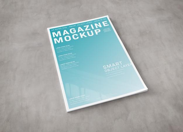 Titelseite auf betonoberfläche modell