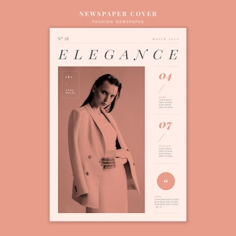 Titelseite mit mode-modell frau