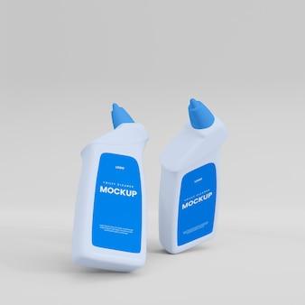 Toilettenreiniger flasche mocup