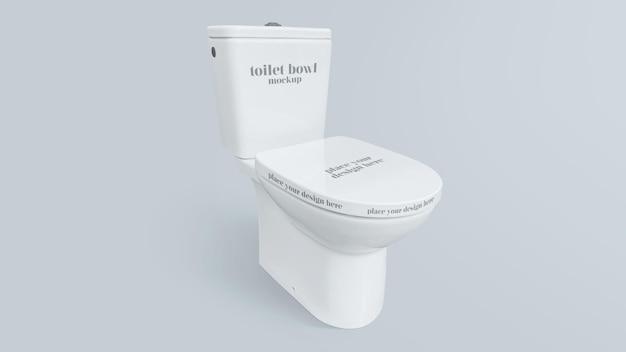 Toilettenschüssel mockup